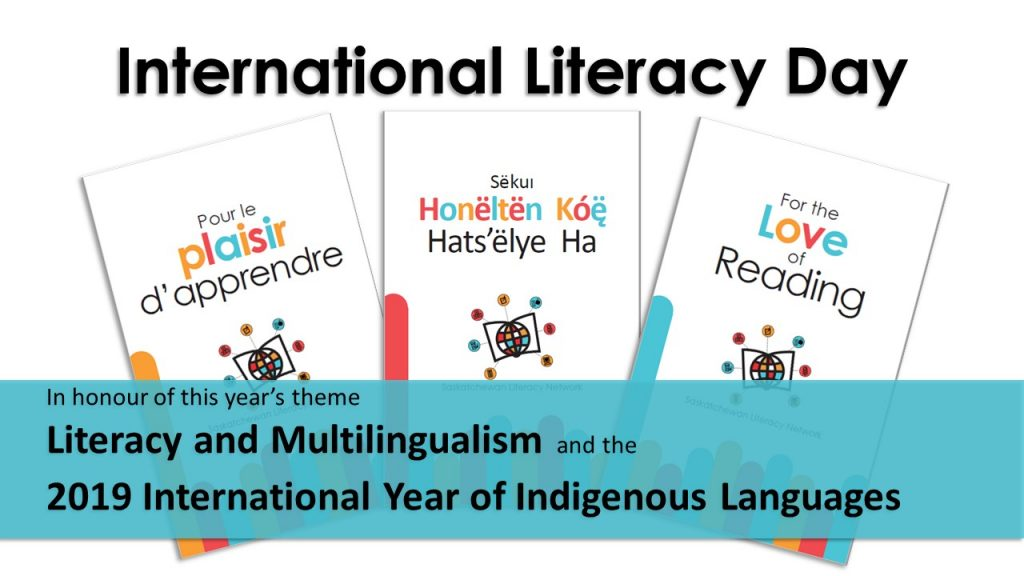 International Literacy Day 2019 - Literacy and Multilingualism. Family literacy booklets will be translated into several languages.