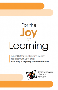 "This cover image is also a link to view and download the family literacy booklet ""For the Joy of Learning"""