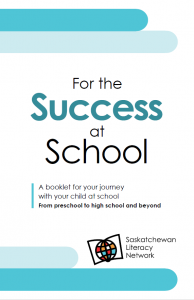 "This cover image of the family literacy booklet ""For the Success at School"" is also a link to view and download the booklet."